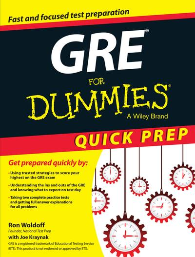 GRE for dummies:quick prep edition