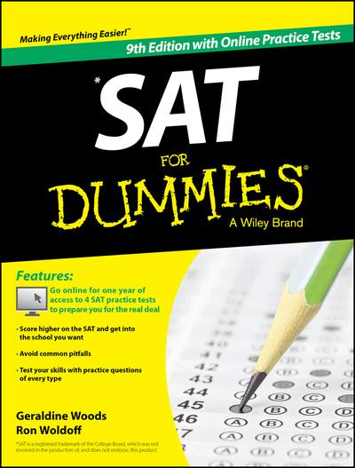 SAT for dummies, with online practice tests