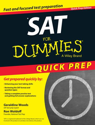 SAT for dummies quick prep edition