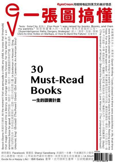 一張圖搞懂 [2018年2月號]:30 Must-Read Books 一生的讀書計畫