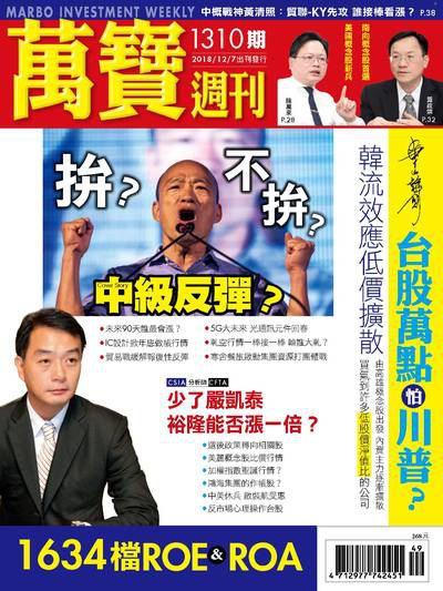 萬寶週刊 2018/12/07 [第1310期]:中級反彈?