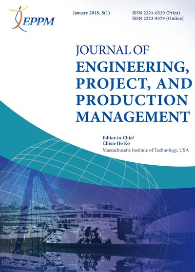 Journal of Engineering, Project, and Production Management [January 2018, 8(1)]