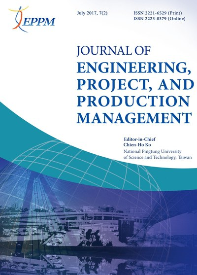Journal of Engineering, Project, and Production Management [July 2017, 7(2)]