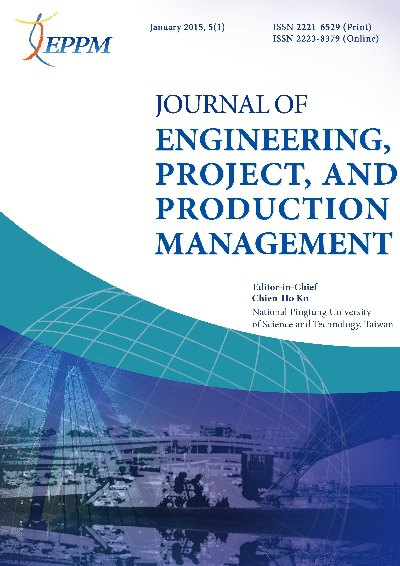 Journal of Engineering, Project, and Production Management [January 2015, 5(1)]