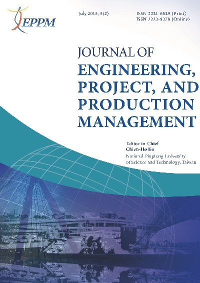 Journal of Engineering, Project, and Production Management [July 2015, 5(2)]