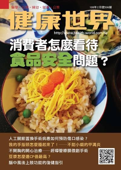 健康世界 [第506期]:消費者怎麼看待食品安全問題?