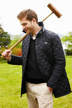barbour Quilted Jacket preppy