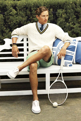 Tennis Sweater preppy