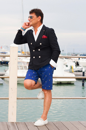 Boat Shoes navy blazer preppy